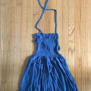 Free People Extratropical Dress Teal NWOT, S